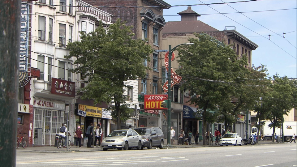 Vancouver's Downtown Eastside is shown in this undated file image. (CTV)