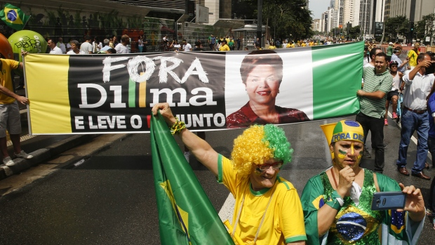 Protesters rally against Rousseff in Brazil