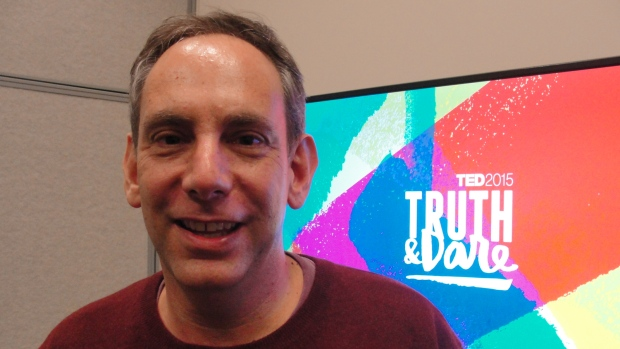 StoryCorps founder Dave Isay speaks of using his TED Prize wish to collect the wisdom of the world in people's own words using a new application for smartphones, March 17, 2015 during the TED conference in Vancouver, Canada. (AFP PHOTO / GLENN CHAPMAN )