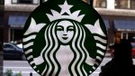 The Starbucks logo is seen at one of the company's coffee shops in downtown Chicago, Saturday, May 31, 2014. (Gene J. Puskar, File/AP)