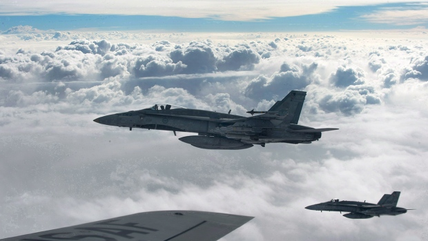 Royal Canadian Air Force CF-18 Hornets over Iraq