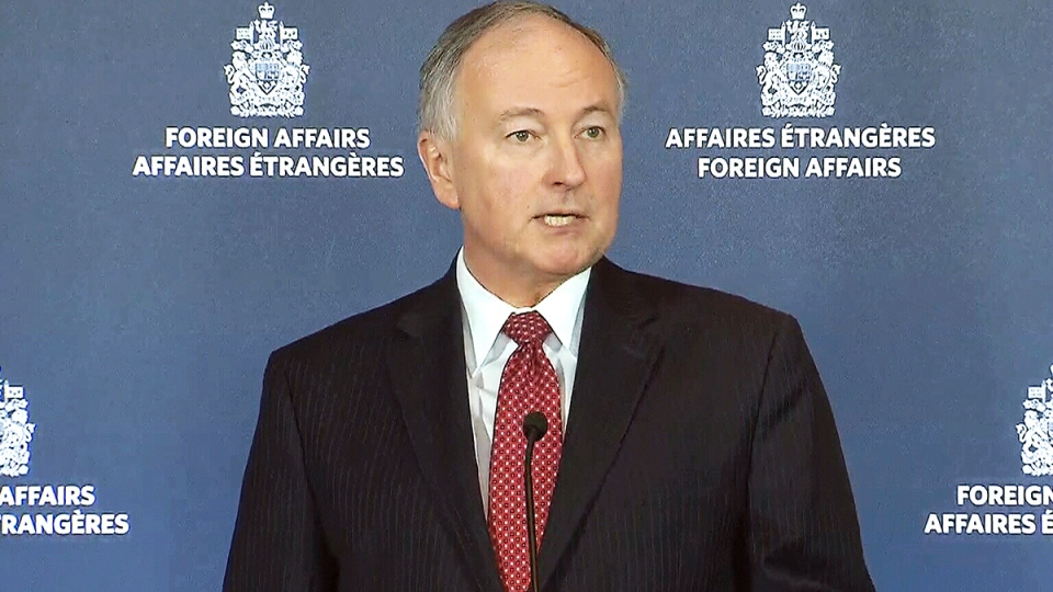 Foreign Affairs Minister Rob Nicholson speaks about extending Canada's military mission against the Islamic State, in Ottawa, Thursday, March 19, 2015.