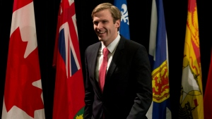 New Brunswick Premier Brian Gallant leaves the closing news conference to the Canada's premiers meeting in Ottawa, Friday Jan. 30, 2015. (Adrian Wyld / THE CANADIAN PRESS)