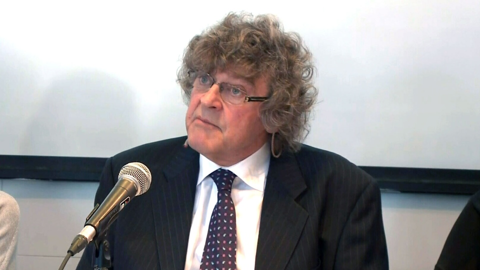 Lawyer James Lockyer speaks to reporters in Quebec City on Friday, March 20, 2015.