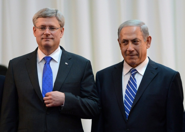 Canada supports two-state solution, Harper says in call to ...