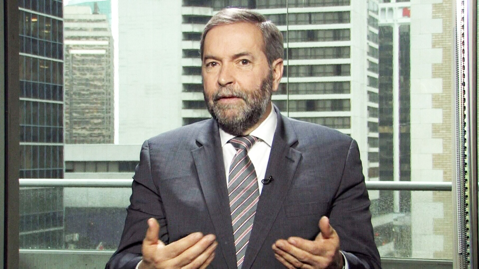 NDP Leader Thomas Mulcair speaks with CTV's Question Period on March 22, 2015.