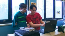 Standing desks in classrooms