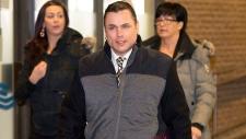 Patrick Brazeau arrives at the Gatineau Courthouse