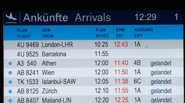 Flight crashed status board