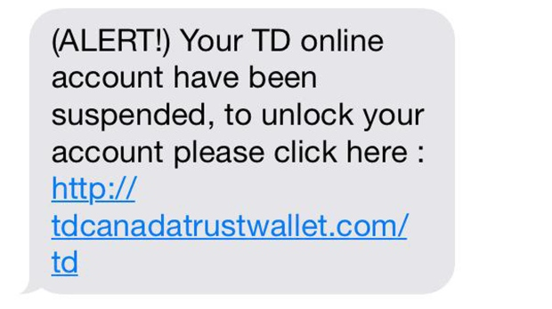 Revenue Canada Td Bank Warn Of Text Scams Ctv News