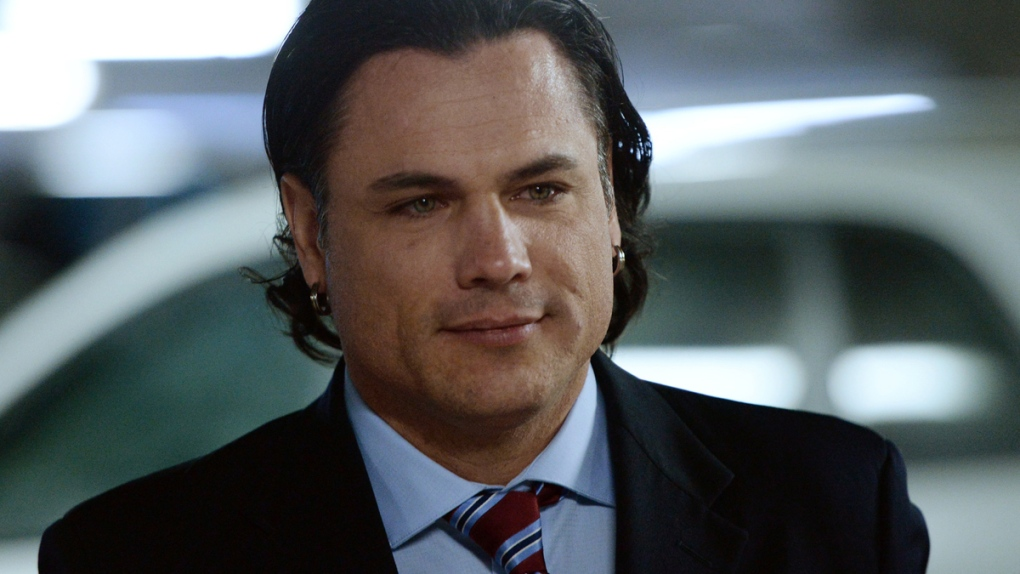 Patrick Brazeau arrives at the Gatineau Courthouse