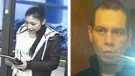 Corey Paddy, left, and Cory Campeau are seen here in these Saskatoon police supplied photos. (Saskatoon police)