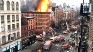 Extended: Rooftop view of the East Village fire