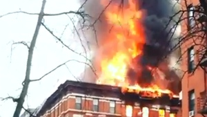 Extended: Street view of the intense blaze