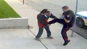 CTV Regina: Video shows cop kicking man
