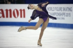 Elizaveta Tuktamysheva of Russia performs during the Ladies Free Skating event in the ISU World Figure Skating Championship 2015 held at the Oriental Sports Center in Shanghai, China, Saturday, March 28, 2015. Tuktamysheva finished in first place in the event. (AP / Ng Han Guan)
