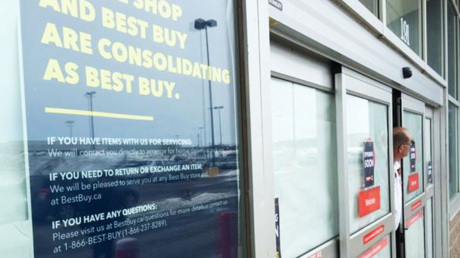 Future Shop is closing all Canadian stores and will consolidate with Best Buy  on Saturday, March 28, 2015. (John Morris / Twitter)