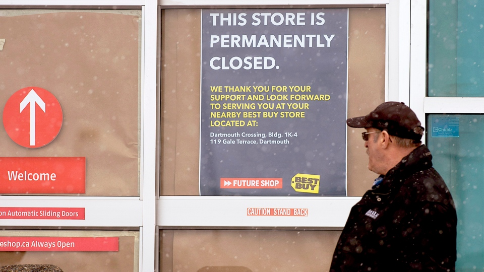The Future Shop store in Dartmouth, N.S. is seen on Saturday, March 28, 2015. (Andrew Vaughan / THE CANADIAN PRESS)