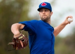 Toronto Blue Jays pitcher Daniel Norris live pitchers to batters during baseball spring training in Dunedin, Fla., on February 27, 2015. (Nathan Denette / The Canadian Press)