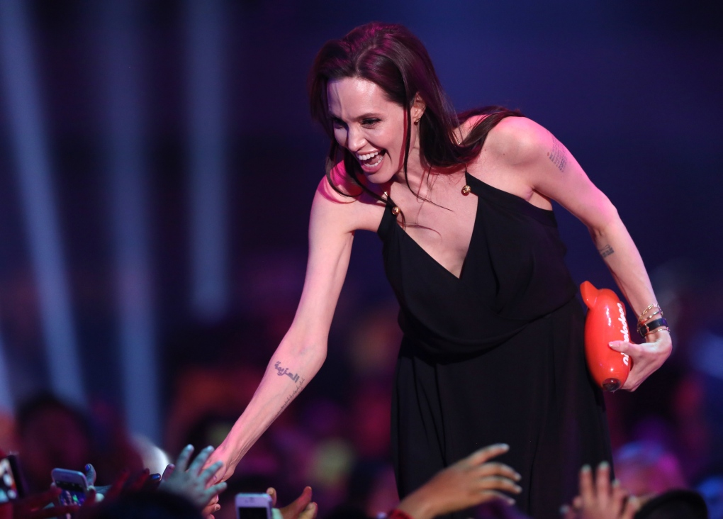 Angelina Jolie at Kids CHoice Awards 2015