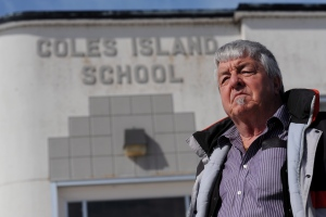 Steve McCready is shown at Coles Island School in Coles Island, N.B., on Tuesday, March 24, 2015. The school has taught children for 58 years but this may be its last. Over time, enrolment has dwindled to a point where the school now teaches 30 students from kindergarten to Grade 5. Still, McCready and others in the community have fought for five months to save it. (Stephen MacGillivray / THE CANADIAN PRESS)