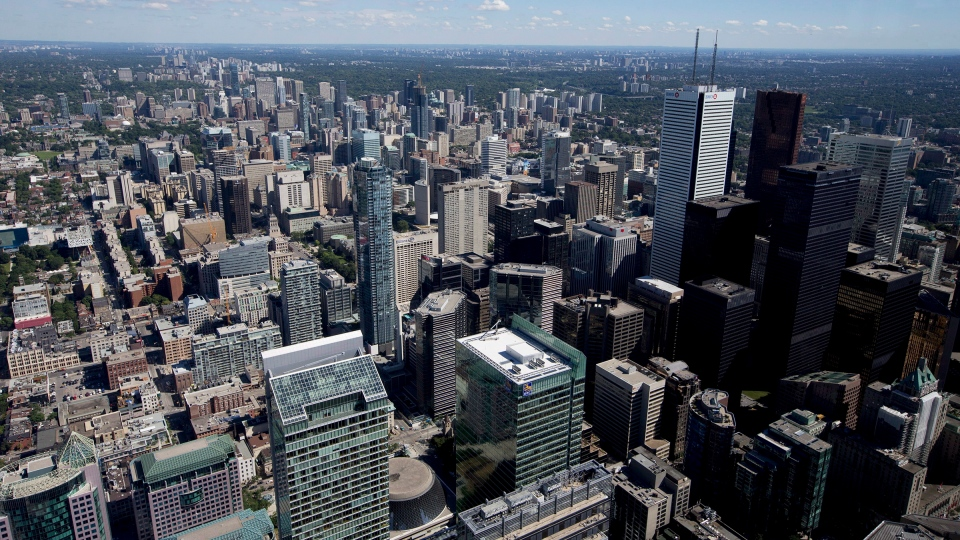 Toronto's financial district is pictured on Friday, July 26, 2013. THE CANADIAN PRESS/Michelle Siu
