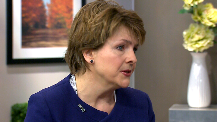 Deb Maskens, founder of the CanCertainty Coalition, speaks on Canada AM in their Toronto studios on Monday, March 30, 2015.