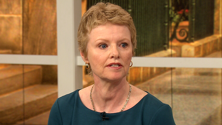 Breast cancer patient and mother, Deirdre McMillan, speaks on CTV's Canada AM on Monday, March 30, 2015.