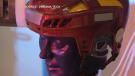 Hockey helmet testing