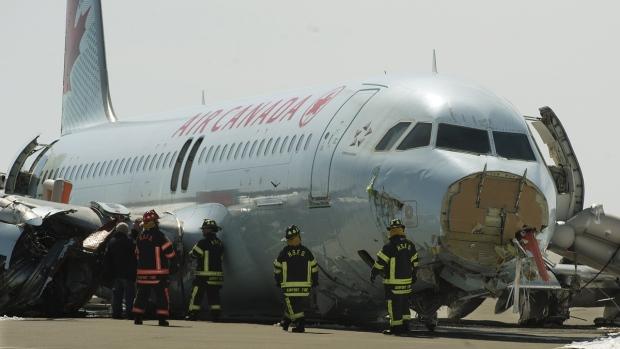 Air Canada passenger jet crashes in Halifax