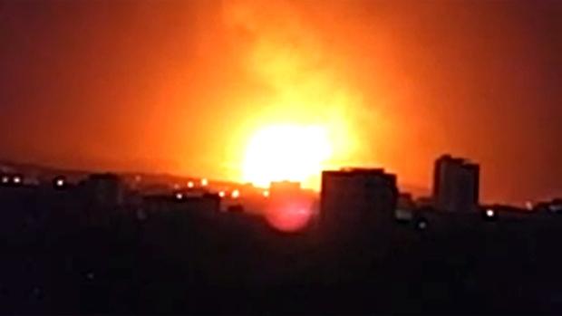 Explosion in Sanaa, Yemen