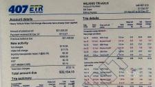 407 ETR invoice