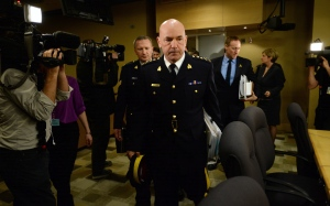 Bob Paulson, Commissioner of the RCMP, appears before the National Security and Defence committee on Bill C-51 in Ottawa on Monday, March 30, 2015. (Sean Kilpatrick / THE CANADIAN PRESS)
