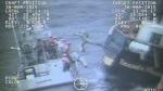 U.S. Coast Guard rescue nine crewmembers from the Canadian tall ship Liana's Ransom, east of Gloucester, on March 30, 2015. (U.S. Coast Guard)