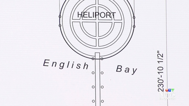 Fake plans for Point Grey heliport