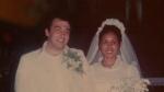 Gordon MacDonald and Gilda Feliciano on their wedding night in the Philippines.