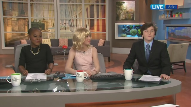 Canada AM: Young hosts read the news