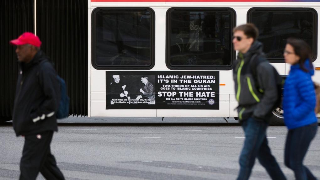 An advertisement on a SEPTA bus