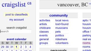 vancouver escorts classifieds craigslist