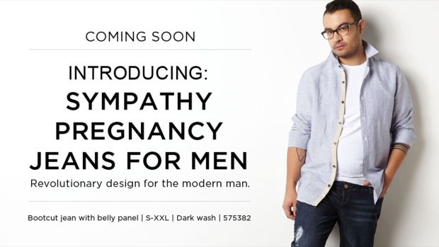 Pregnancy jeans ad from Thyme Maternity