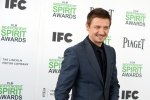 Jeremy Renner arrives at the 2014 Film Independent Spirit Awards, in Santa Monica, Calif., on March 1, 2014. (Jordan Strauss / Invision / AP)