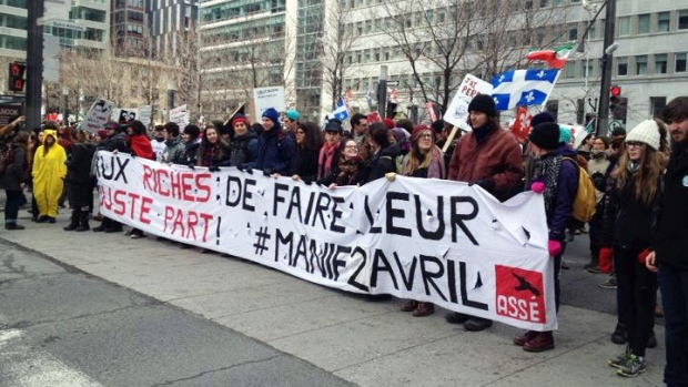 Thousands gather in Montreal for anti-austerity protest