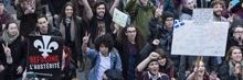 Students demonstrate against austerity in Quebec