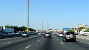 Traffic is shown on Highway 401 in North Toronto in this 2012 file photo. (Dominic Chan / THE CANADIAN PRESS)
