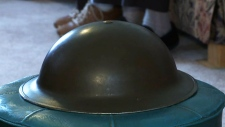 Tin war helmet