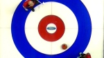 A curling house is seen from above.