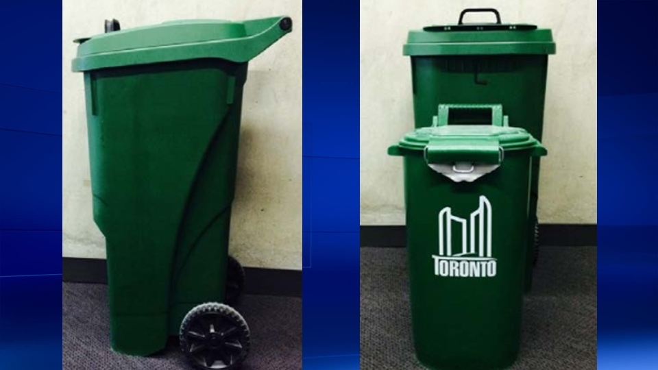 The new green bin design is shown in these photos from the City of Toronto.
