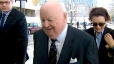 Sen. Mike Duffy arrives at Ottawa court