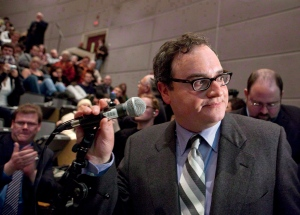 Ezra Levant is shown at the University of Ottawa in Ottawa on Tuesday, March 23, 2010. (Pawel Dwulit / THE CANADIAN PRESS)