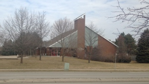 St. Matthias Anglican Church in Guelph was sold, torn down and replaced with student housing. (Alexandra Pinto / CTV Kitchener)